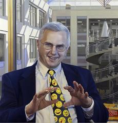 Pintura de Bruce Alberts na Academia Nacional de Ciências (NAS, USA), por Jon Friedman